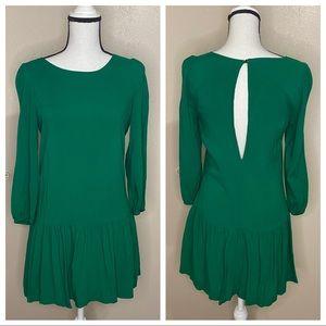 Anthropologie Meadow Rue Emerald Green Tunic Dress